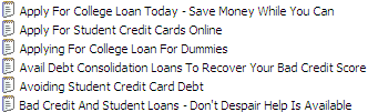 25 PLR Student Loans Articles