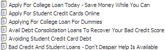 25 PLR Student Loans Articles