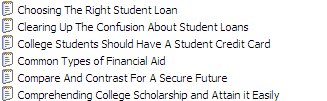 25 Private Label Rights Student Loans Articles