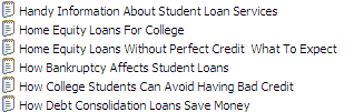 25 PLR Student Loans A Pack Articles
