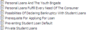 25 Student Loans Private Label Rights Articles