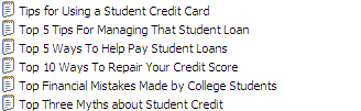 22 Quality PLR Student Loans Articles