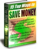 Saving Money PLR Ebook