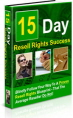 15 Day Resell Rights Success PLR Ebook