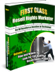 First Class Resell Rights Vol.2 Ebook