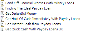 25 PLR Private Label Rights Payday Loans Articles