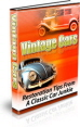 Vintage Cars PLR Ebook