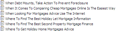 15 Mortgage Advice PLR Articles