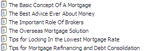 25 PLR Mortgage Advice B Pack Articles