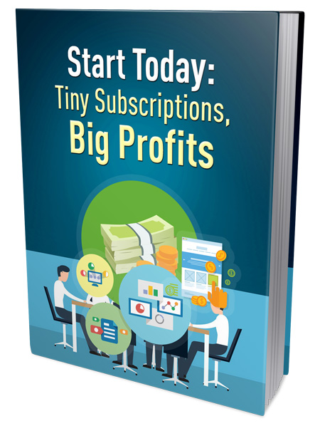 PLR Start Today Tiny Subscriptions