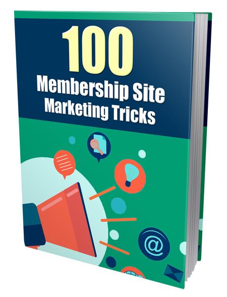 PLR 100 Membership Site Marketing Tricks